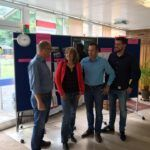 Jutta Schmitt-Lang, Frank Wagner und Alexander Meyer zu Besuch bei der Sommer-Akademie der saarländischen Begabtenförderung in Homburg