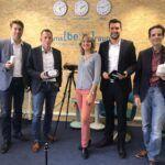 Frank Wagner, Jutta Schmitt-Lang, Alexander Zeyer und Sascha Zehner besuchen die Landesmedienanstalt in Saarbrücken. Besonders interessant war der beta-Raum mit den neuesten Highlights der Digitalisierung
