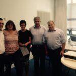 Marc Speicher, Petra Fretter und Alwin Theobald beim informativen Austausch im Jobcenter Saarpfalz-Kreis