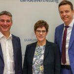 Austausch mit Dr. Angela Merkel, Annegret Kramp-Karrenbauer, MdBs und der Deutschen Bahn: CDU-Landtagsfraktion wirbt in Berlin für saarländische Interessen
