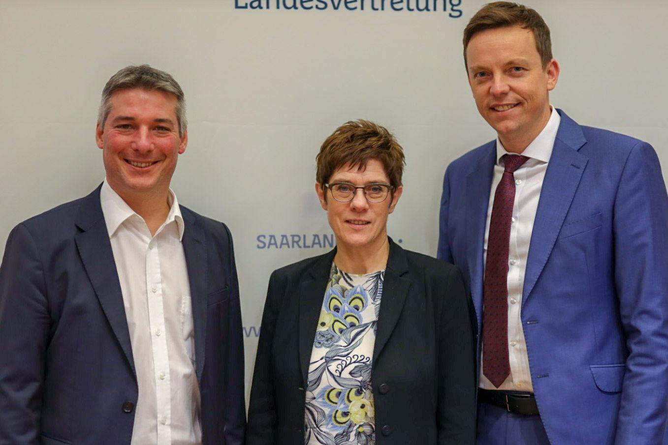 CDU Fraktion des Saarlandes: Austausch mit Dr. Angela Merkel, Annegret Kramp-Karrenbauer, MdBs und der Deutschen Bahn: CDU-Landtagsfraktion wirbt in Berlin für saarländische Interessen