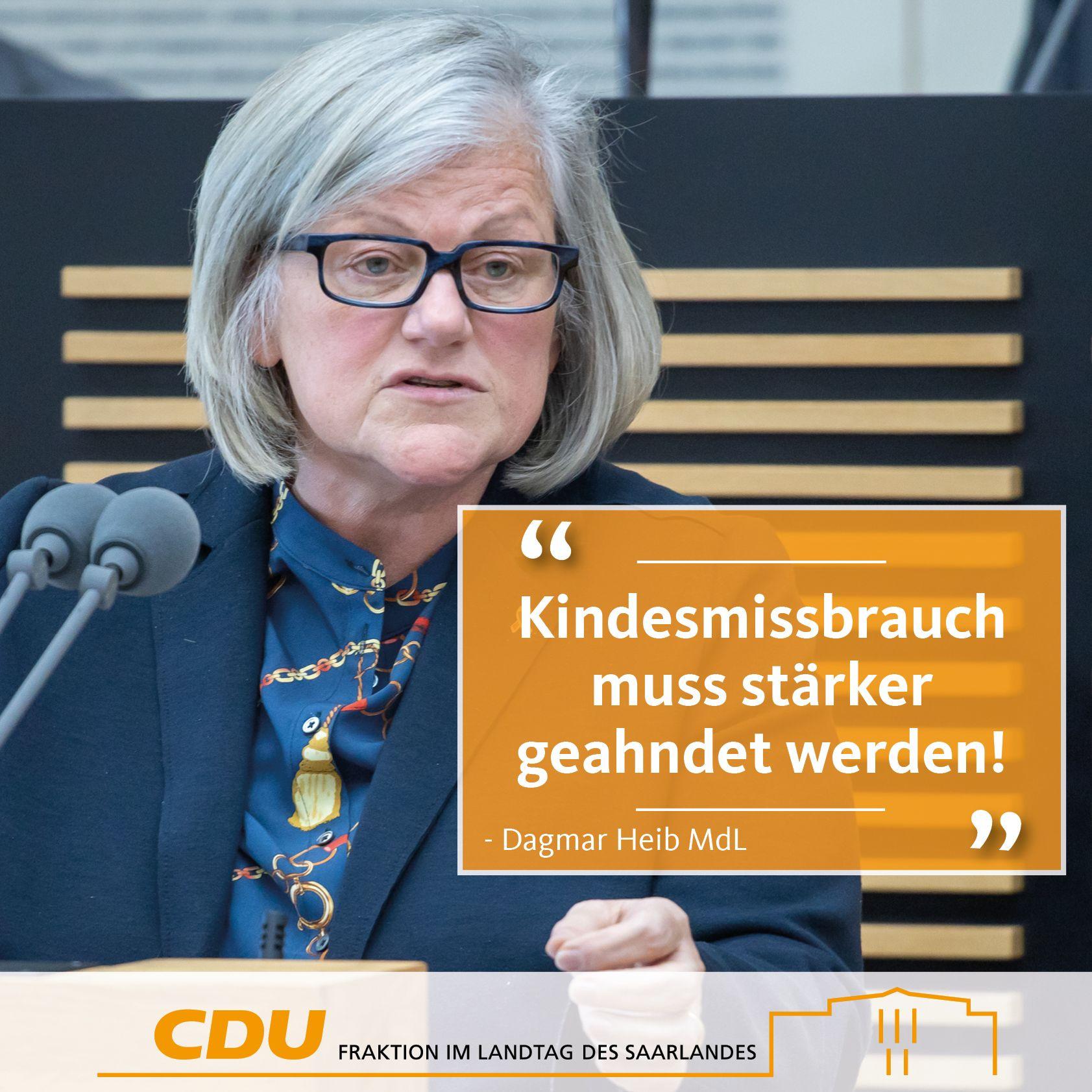 CDU Fraktion des Saarlandes: Vorsitzende des Untersuchungsausschusses Dagmar Heib fordert Strafrechtsreform – Täter sollen härtere Strafen erhalten