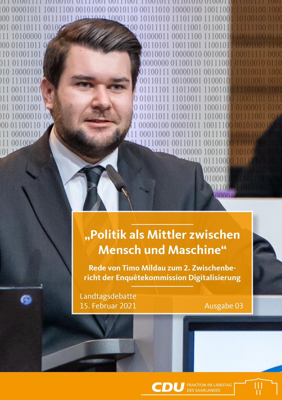 CDU Fraktion des Saarlandes: Politik als Mittler zwischen Mensch und Maschine