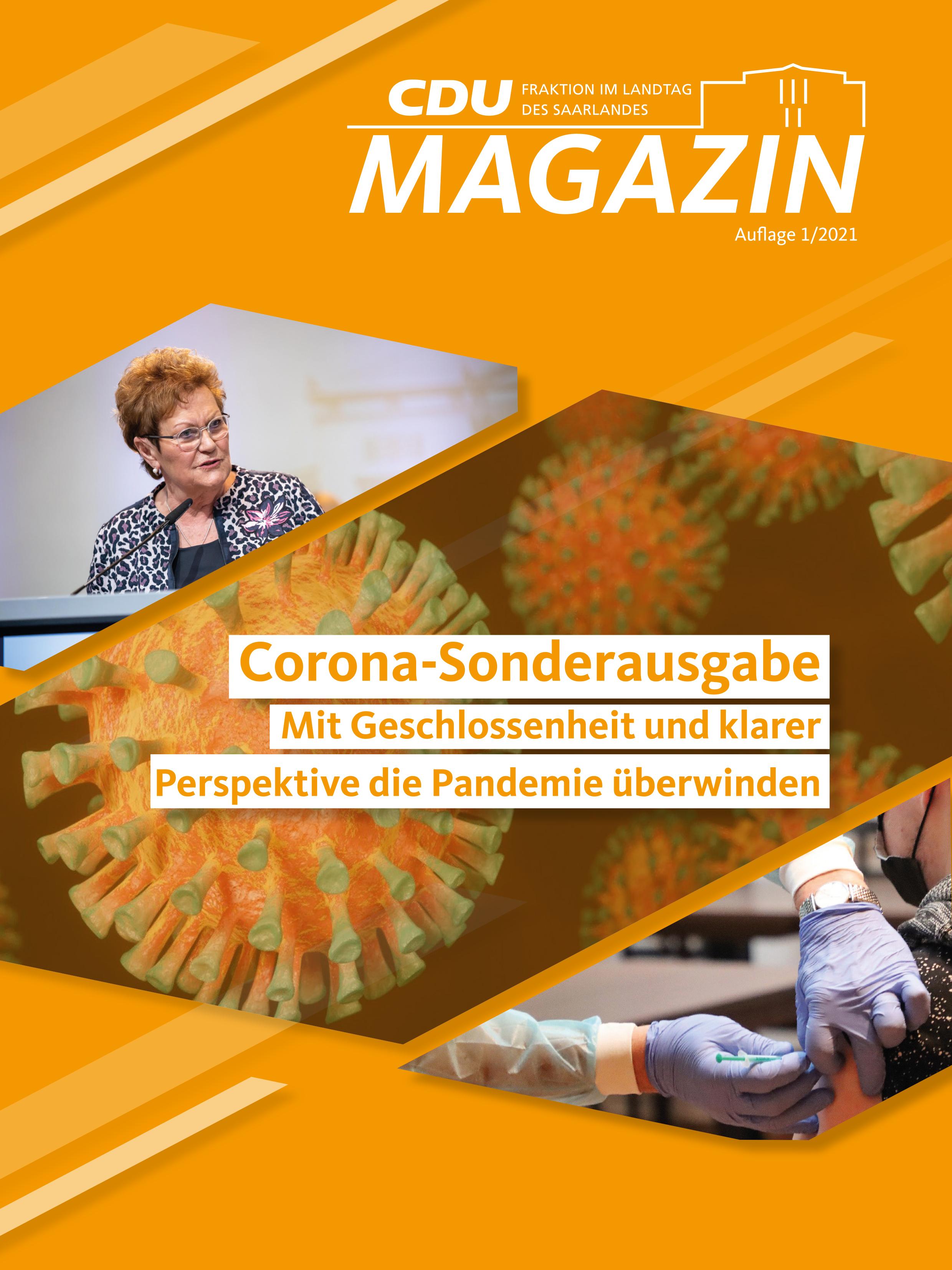 CDU Fraktion des Saarlandes: Corona-Sonderausgabe des CDU-Magazins erschienen – Jetzt lesen!