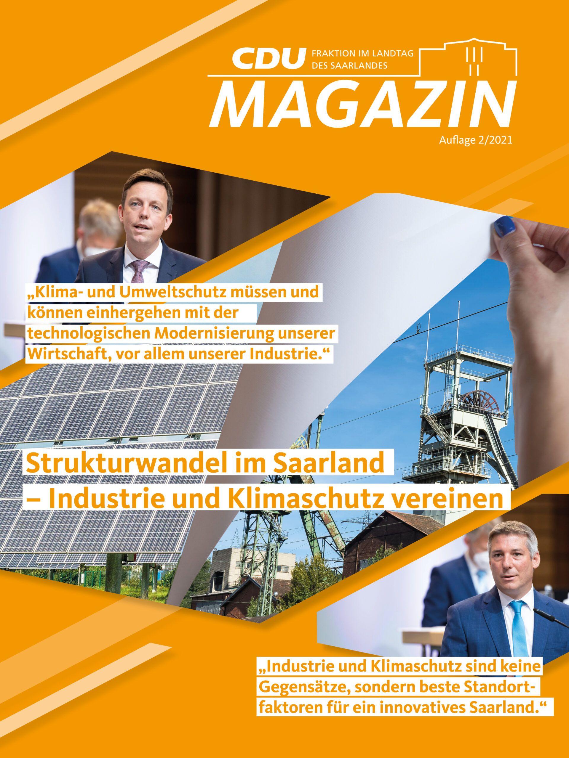 CDU Fraktion des Saarlandes: Neue Ausgabe unseres MAGAZINS (02_2021) ist da – Jetzt lesen!